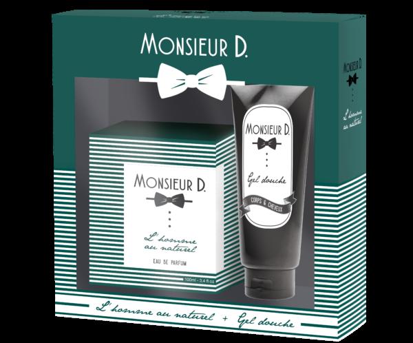 Coffret Eaux de Parfum l'homme au naturel + gel douche